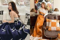 Hội nhà giàu rộ mốt quấn chăn Hermès 1.550 USD thành váy