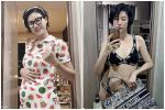 Sau khi đùa về chuyện bầu 4 tháng, Trang Trần tự tin mặc bikini khoe bụng mỡ 109 cm-7