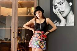 Kỳ Duyên quấn túi Louis Vuitton thành váy, được tạp chí Thái khen ngợi
