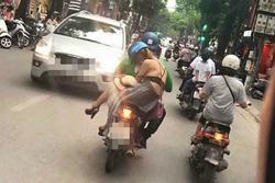 Nhức mắt khoảnh khắc cô gái diện đồ toang nội y trên phố Hà Nội