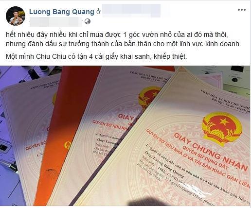 Lương Bằng Quang bị dân mạng mỉa mai khi khoe đang sở hữu 4 bất động sản-1