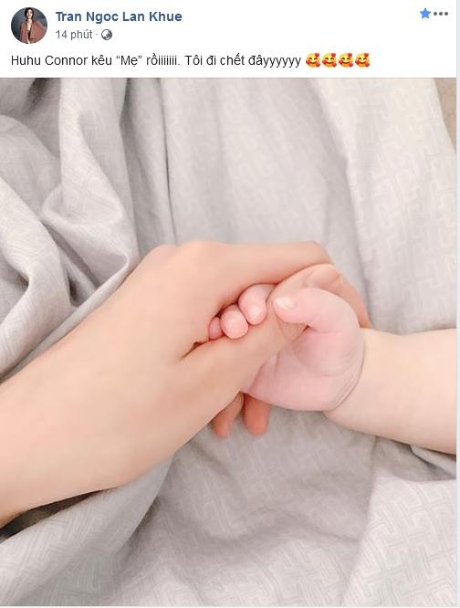 Lan Khuê mừng phát khóc khi quý tử gọi mẹ dù chưa đầy 6 tháng tuổi-2