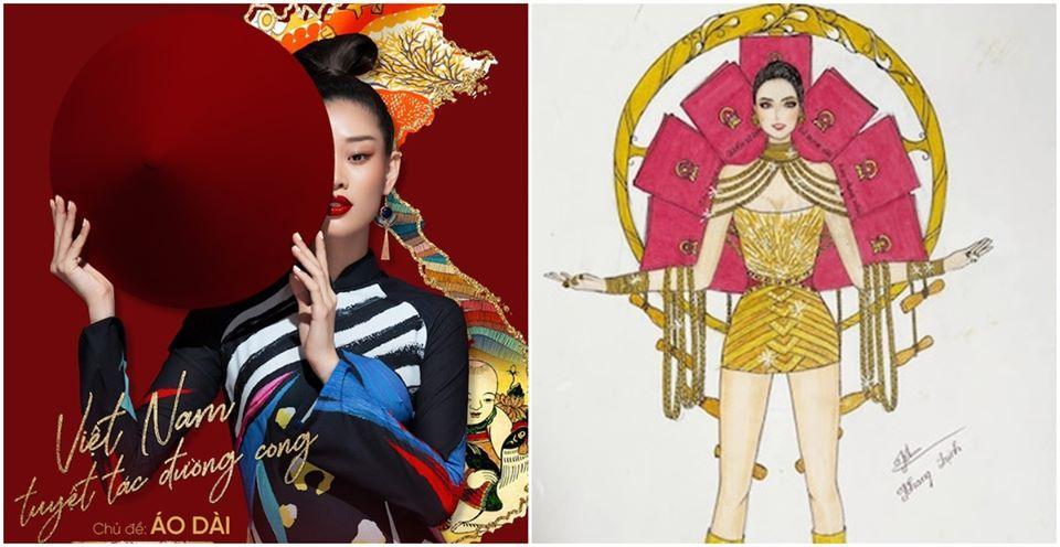 Sau Quốc phục Miss Cai Lậy 7 miếng đất, xuất hiện thêm trang phục dân tộc chống Covid-19 siêu lạ cho Khánh Vân-4