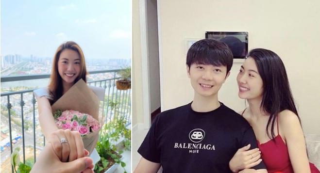 Ảnh đời thường hạnh phúc của Thúy Vân và chồng sắp cưới