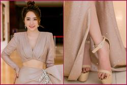 Ham đi giày siêu cao, Quỳnh Nga 'cá sấu chúa' mắc hẳn 2 lỗi sai kinh điển khi đi sandals mà các cô gái nên lưu ý