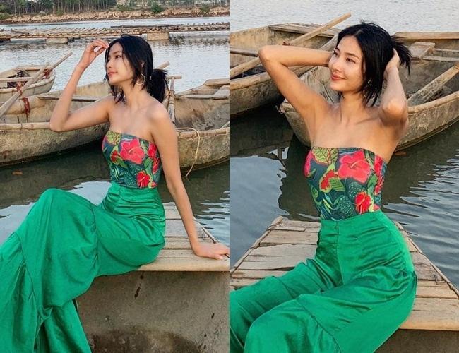 Tin Hoa hậu Hoàn vũ 10/5: Hoàng Thùy đọ áo độc lạ với đối thủ