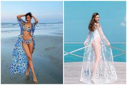 Học sao Việt phối bikini cùng áo choàng