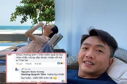 Cường Đô La ngầm xác nhận Đàm Thu Trang mang thai sắp đến ngày sinh