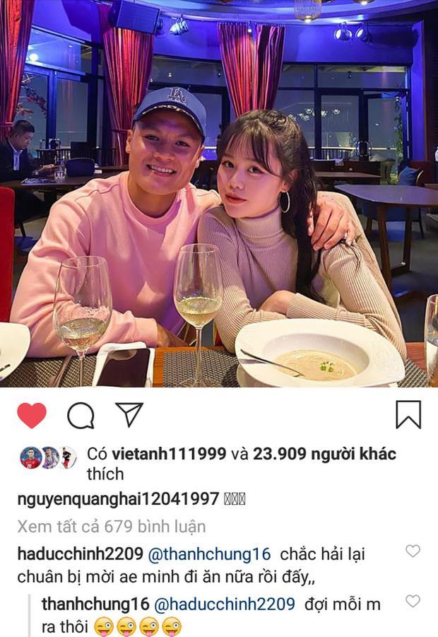 Quang Hải vừa đăng ảnh tình cảm bên bạn gái, Đức Chinh nhanh nhảu đòi được mời ăn-1