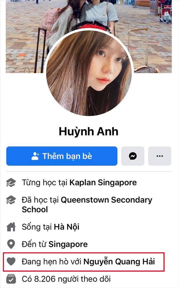 Bị tấn công chuyện yêu người mới, Quang Hải - Huỳnh Anh cùng lúc đổi trạng thái Facebook sang HẸN HÒ-3