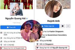 Bị 'tấn công' chuyện yêu người mới, Quang Hải - Huỳnh Anh cùng lúc đổi trạng thái Facebook sang HẸN HÒ