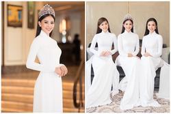 Trần Tiểu Vy diện áo dài trắng tinh khôi, chính thức tìm kiếm hoa hậu kế nhiệm