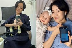 Đăng ảnh vạch ngực trần hút sữa cho con, ngoại hình MC Phí Linh gây bất ngờ lớn