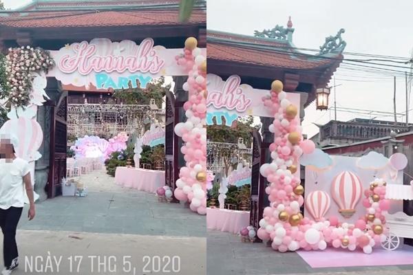 Tổ chức tiệc rich kid cho con gái 3 tháng, nhan sắc cô dâu 200 cây vàng ở Nam Định gây sốt-4