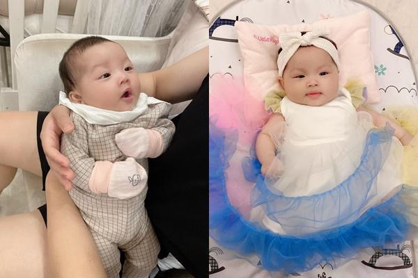 Tổ chức tiệc rich kid cho con gái 3 tháng, nhan sắc cô dâu 200 cây vàng ở Nam Định gây sốt-2