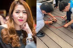 MC Diệp Chi gặp sự cố khi ghi hình chương trình 'Điều ước thứ 7' khiến ai nhìn cũng thương