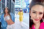 Hoa hậu Diễm Hương hào hứng khi gặp bà Tân Vlog, đôi dép tổ ong huyền thoại gây chú ý-5