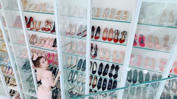 Ngọc Trinh lại khoe tủ giày hiệu chất cao như núi trong nhà, con số vượt xa 300 đôi-4