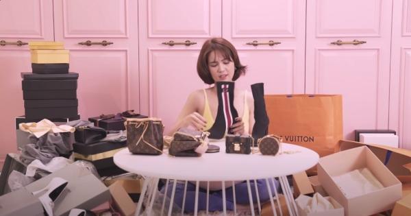 Ngọc Trinh lại khoe tủ giày hiệu chất cao như núi trong nhà, con số vượt xa 300 đôi-7