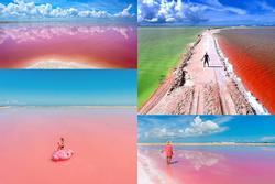 Hồ nước màu hồng đẹp tuyệt nhưng du khách tuyệt đối không được tắm
