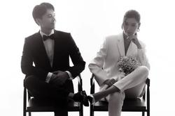 Ảnh cưới của Thúy Vân và bạn trai doanh nhân