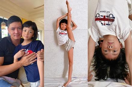 Ái nữ 8 tuổi nhà Bình Minh khoe chân dài kinh ngạc, dàn mỹ nhân showbiz dụi mắt trầm trồ