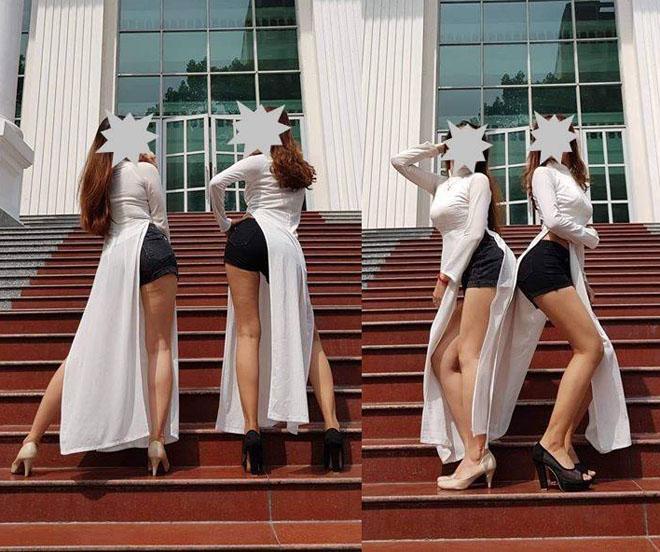 Trang phục học đường bị ném đá: Áo dài mặc cùng quần đùi, váy chiều dài khiêm tốn-3