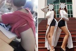Trang phục học đường bị 'ném đá': Áo dài mặc cùng quần đùi, váy chiều dài khiêm tốn