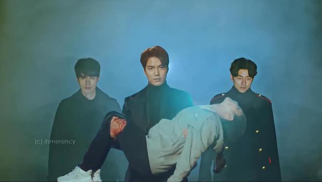 Bức ảnh Yêu Tinh và Thần Chết hộ tống Lee Min Ho giải cứu Kim Go Eun ở Quân Vương Bất Diệt là ảnh chế hot nhất hôm nay-1