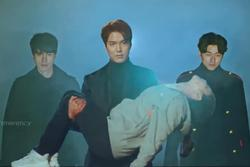Bức ảnh Yêu Tinh và Thần Chết hộ tống Lee Min Ho giải cứu Kim Go Eun ở 'Quân Vương Bất Diệt' là ảnh chế hot nhất hôm nay