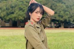10X gây chú ý trong ảnh mặc đồ quân sự là hot girl Nam Định quen mặt