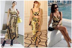 'Đụng hàng' áo bratop Versace: Lệ Quyên - Minh Hằng - Tiên Nguyễn lên sóng 3 phong cách khác nhau