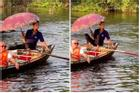 Hình ảnh người đàn ông chèo thuyền ở Tràng An với tư thế 1-0-2 bất ngờ được khen nức nở và nổi khắp mạng Tiktok