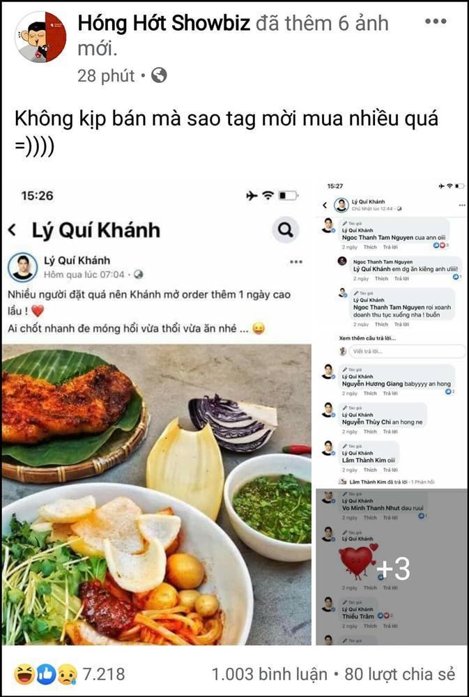 Hú hồn Lý Quí Khánh: Miệng nói bán đồ ăn online đắt khách, thực tế phải tag tên từng người mời mua-2