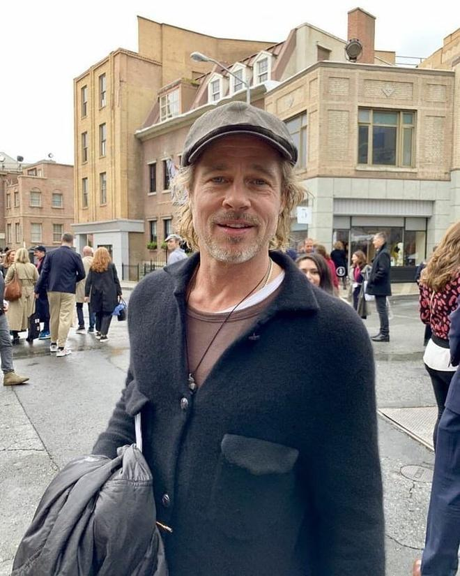 Brad Pitt trông kém sắc sau nhiều tháng không cắt tóc-3