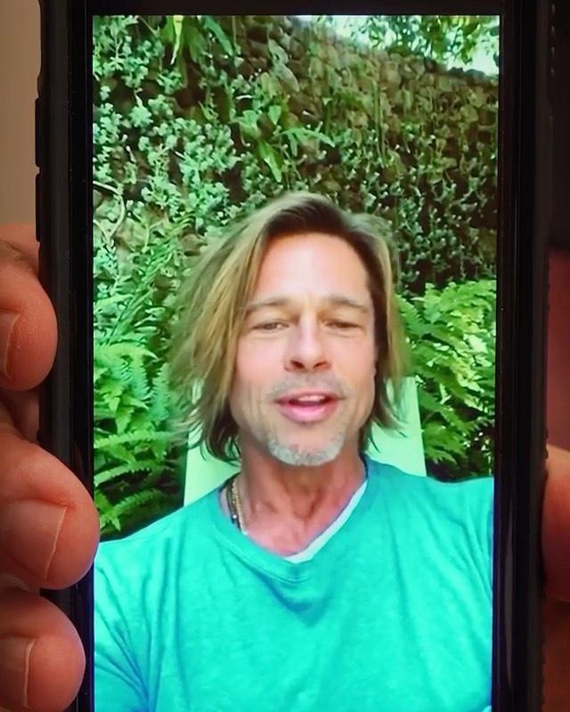 Brad Pitt trông kém sắc sau nhiều tháng không cắt tóc-4