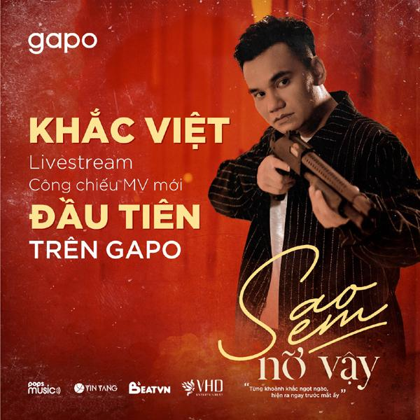 Khắc Việt livestream MV mới trên nền tảng mạng xã hội Việt-1