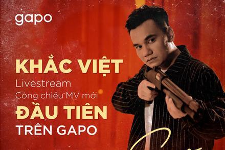 Khắc Việt livestream MV mới trên nền tảng mạng xã hội Việt