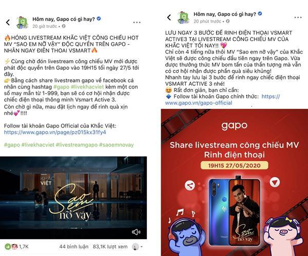 Khắc Việt livestream MV mới trên nền tảng mạng xã hội Việt-2