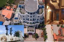 Lâu đài của đại gia Thái Bình lộng lẫy và rộng đến mức thiết kế cả nơi đậu trực thăng trên nóc