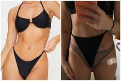 Mua bikini online, cô gái nhận được chiếc quần không đủ che chỗ nhạy cảm