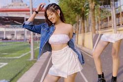 Khoe dáng đẹp eo thon, 'hot girl trứng rán' Thanh Tâm bị soi photoshop quá đà làm chân dị dạng