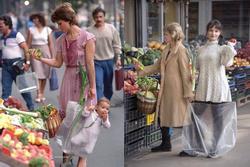 Bức ảnh người mẹ xách con đi chợ bất ngờ nổi tiếng sau 33 năm