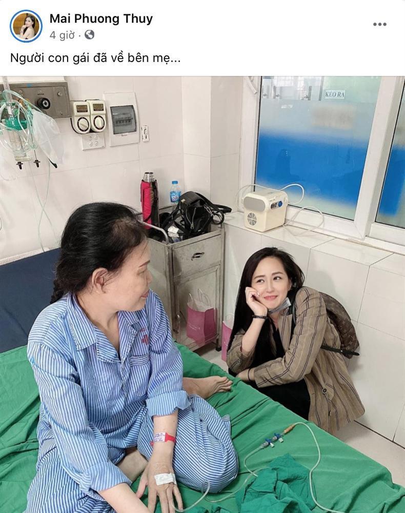 Mẹ nhập viện, Hoa hậu Mai Phương Thúy bỏ cả thế giới về bên cạnh-1