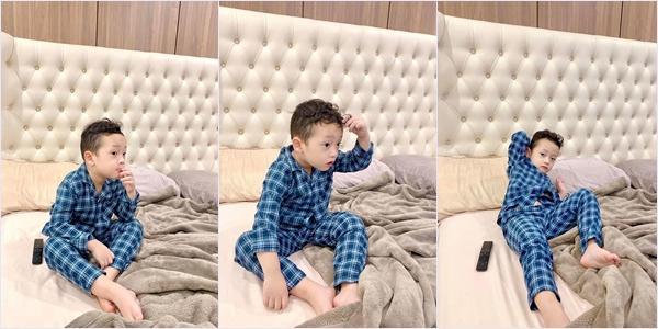 Không hổ danh sao nhí được nhiều người yêu mến, con trai Ly Kute đốn tim fan với loạt ảnh mặc đồ ngủ siêu yêu-3