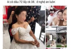 Xôn xao cô dâu 75 tuổi có vòng 1 'ngộp thở' chụp ảnh cưới với chú rể 34 tuổi ở Nghệ An