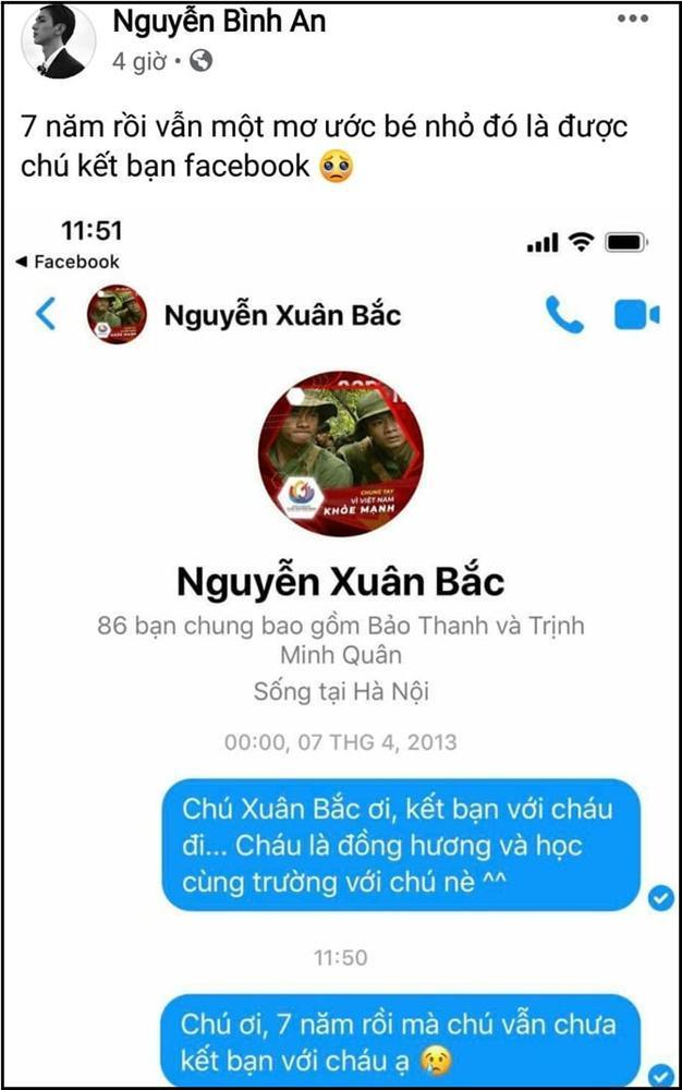 Bình An ngậm ngùi vì chờ 7 năm không được NSƯT Xuân Bắc kết bạn Facebook-1