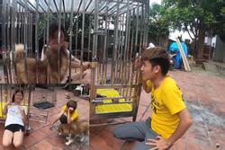 Con trai bà Tân Vlog hứng rổ gạch đá khi nhốt em gái trong chuồng chó để trả thù