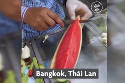 Màn chém trái cây nhanh như ninja ở Thái Lan