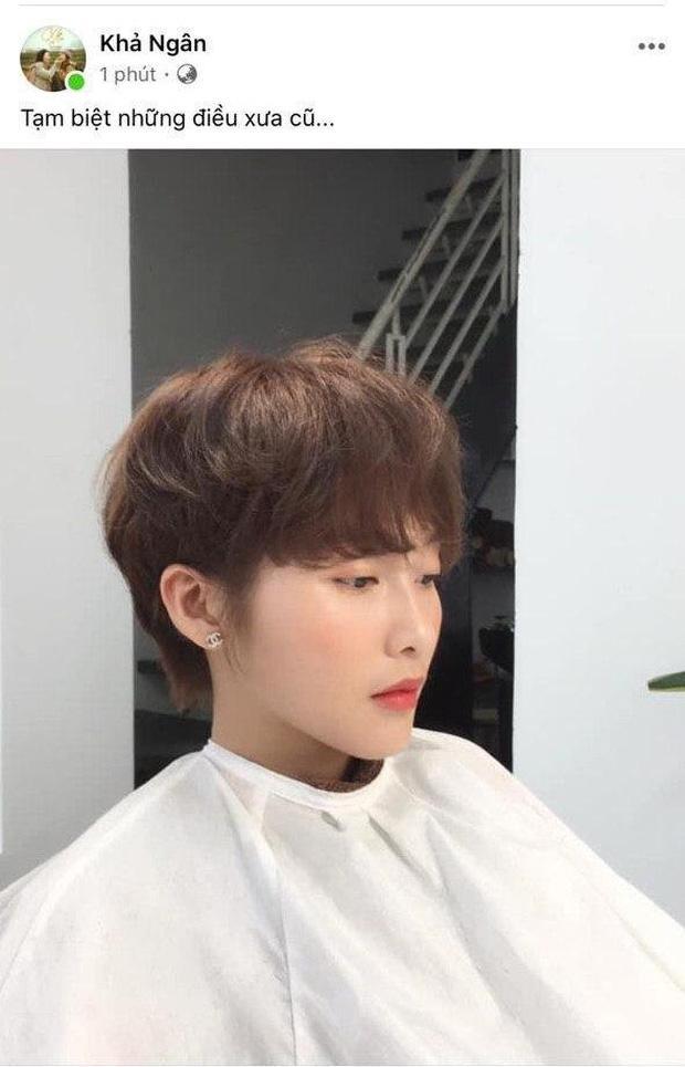 Lần đầu cắt phăng mái tóc dài, Khả Ngân tâm trạng đăng status tạm biệt gây hoang mang: Chuyện gì đang xảy ra?-1